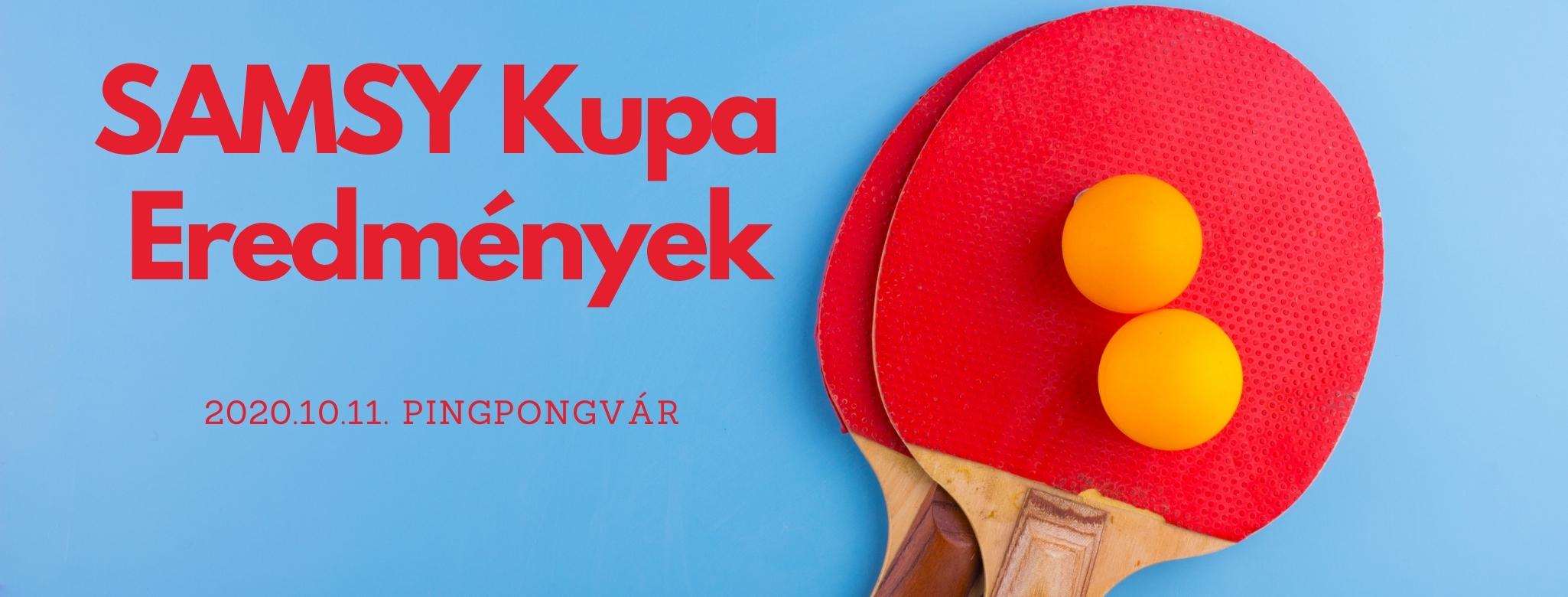SAMSY Kupa 2020.10.11.  Eredmények